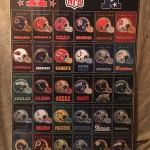 NFL & MLB Collage Posters (Lot of 2) - New/Sealed